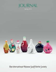 Cover page of the Spring 2013 International Chinese Snuff Bottle Society Journal