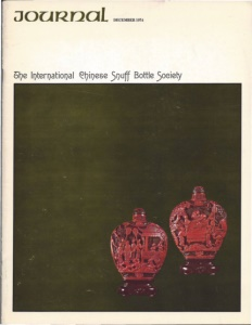 Cover page of the Winter 1974 International Chinese Snuff Bottle Society Journal